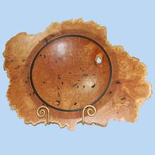 Turned Brown Mallee Burl Bowl. Australian Made