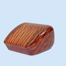 A ring box meticulously crafted from Australian timber by John Tudehope. Flame She Oak.