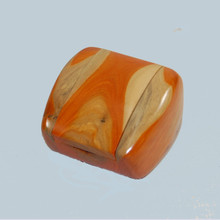 Unusual Ring Box, made from Conkerberry wood. Handmade in Australia