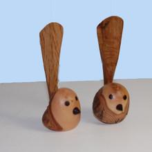 Australian Fairy Wrens made of Bottlebrush wood and Camphor Laurel. Australian Giftware or Decor item.
