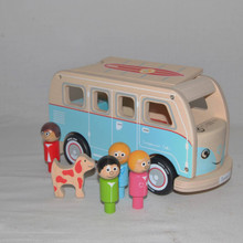 Toy Retro Campervan. Great wooden toy gift with educational value for a young child.