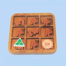 Australian made O's and X's game using Australian timber veneers.