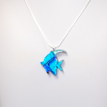 Dichroic Glass Fish Pendant