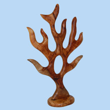 Camphor Laurel sculpted jewellery stand. Australian made.