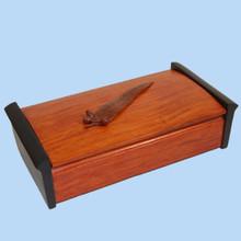 New Guinea Rosewood Jewellery Box. Australian made.