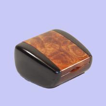 Ironwood Burl and Ebony Ring Box. Australian made.