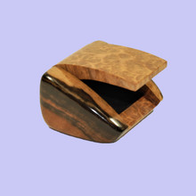 York Gum Burl and Ebony Ring Box. Australian made giftware.