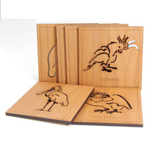 Boxed Set Australian Wooden Coasters.Laser cut  Australian Animals. Coasters come in sets of various Australian timbers.