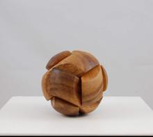 Wooden Soccer Ball 3D Jigsaw Puzzle