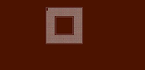 Reballing preform for Intel Pentium