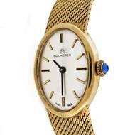 Ladies Bucherer 18k Yellow Gold Mesh Watch 1960 - 1970