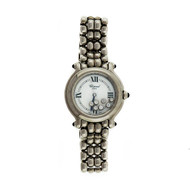 Ladies Chopard Round Happy Diamond Sport Steel Watch