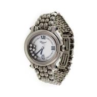 Ladies Chopard Round Happy Diamond Sport Steel Watch