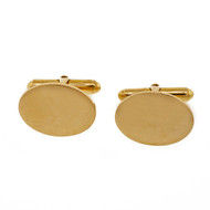 Vintage 1950 Larter & Sons 14k Yellow Gold Cuff Links Oval