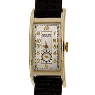 1930 Art Deco Curvex 330 14k Yellow Gold Watch