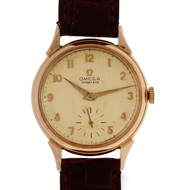 Vintage 1960 Tiffany Omega 18k Pink Gold Wrist Watch