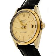 Rare Rolex 15505 Oyster Perpetual Date 1981 Gold Filled Wrist Watch