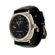 Panerai 44mm Black Seal Radiomir Steel Wrist Watch