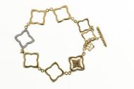 Vintage David Yurman 18k Gold 8 Link Toggle .32ct Full Cut Diamond Bracelet