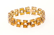 Citrine Three Row Hinged Link Bracelet