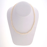 Vintage 1950 Japanese Akoya Pearl High Lustre 6.5mm 16 Inch Necklace
