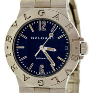 Bulgari Steel Automatic Diagano Black Dial Wrist Watch