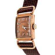 Art Deco 1940 Pink Gold Filled Hamilton Wrist Watch Fancy Lugs Strap Watch