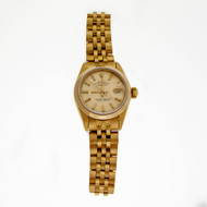 Ladies Rolex 6917 Solid 18k Yellow Gold Jubilee Band Plain Bezel