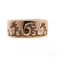 Antique Art Nouveau 14k Pink Gold Wedding Band Ring
