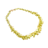 Peridot Citrine Briolette Necklace