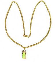 Estate 14k Gold Gem Grade Natural Black Opal Diamond Pendant Enhancer