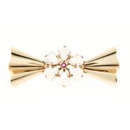 Estate 1935 Designer Tiffany & Co Fabulous Gem Moonstone And Round Ruby Pin