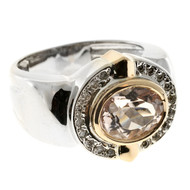 Vintage Genuine Soft Pink 2.50ct Morganite Nh Design 18k White Gold Diamond Ring