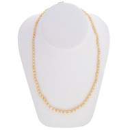 Antique 1900 Graduated Cream Color 3.3 To 7.15mm Cultured Akoya Pearl Necklace