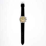 Heuer Pilots Chronograph Ed Heuer & Co Steel 1940's All Original Watch