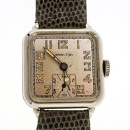 1929 Market Crash Great Depression Men's Hamilton Wrist Watch
