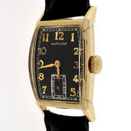 Art Deco 1940 Hamilton 19 Jewel M982 14k Yellow Gold Men's Ladies Watch