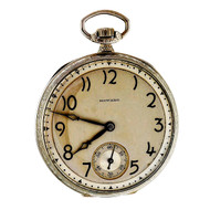 Art Deco Howard 1927 Pocket Watch With Gold Filled Open Face