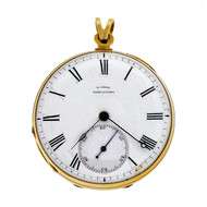 B. Laval Chaux De Fonds Pocket Watch Key Wind Key Set Pocket Watch 14k