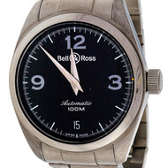 Bell & Ross Automatic Dante Steel Black Dial Wrist Watch