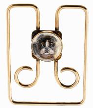 Estate 14k Yellow Gold Designer Tiffany & Co Crystal Boston Terrier Money Clip