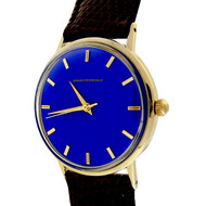 1960 Girard Perregaux Refinished Custom Colored Blue Dial 14k Watch