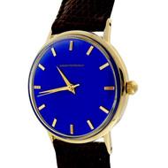 1960 Girard Perregaux Refinished Custom Colored Blue Dial 14k Watch
