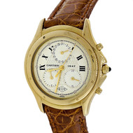 Men's Cartier Gold 1947 L?C Chronograph Strap Watch