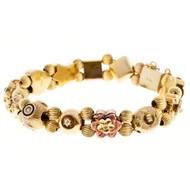 Vintage 1930 14k 13 section slide bracelet<br><br>