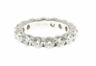 Common Prong Peter Suchy 4.02ct Platinum Diamond Eternity Wedding Ring