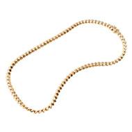 Vintage Designer Tiffany & Co 18k Gold 6.2mm San Marco 16 Inch Hinged Necklace