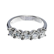 Wedding Band Diamond Platinum Ring