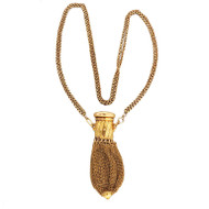 Ruby Diamond Gold Purse Pendant c1800-184