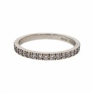 Estate Tiffany & Co .22ct Diamond Flat Bead Set Wedding Band Ring Platinum